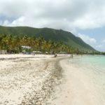 vue plage et volcan