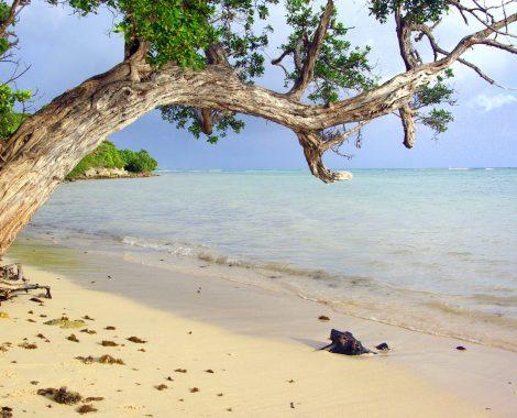 Plage sable blanc eau turquoise